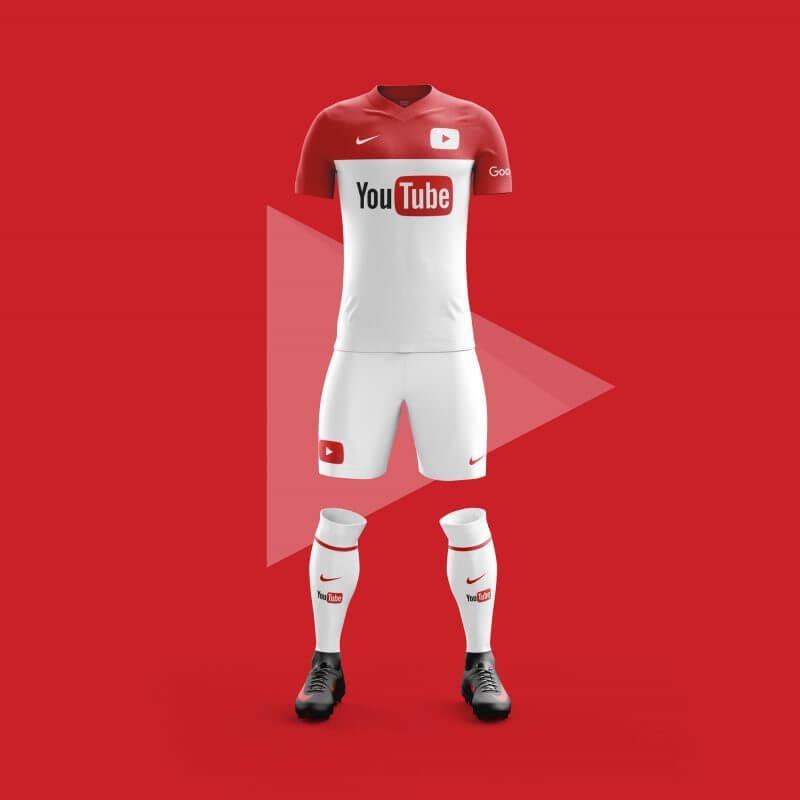 Youtube futbol takımı forması