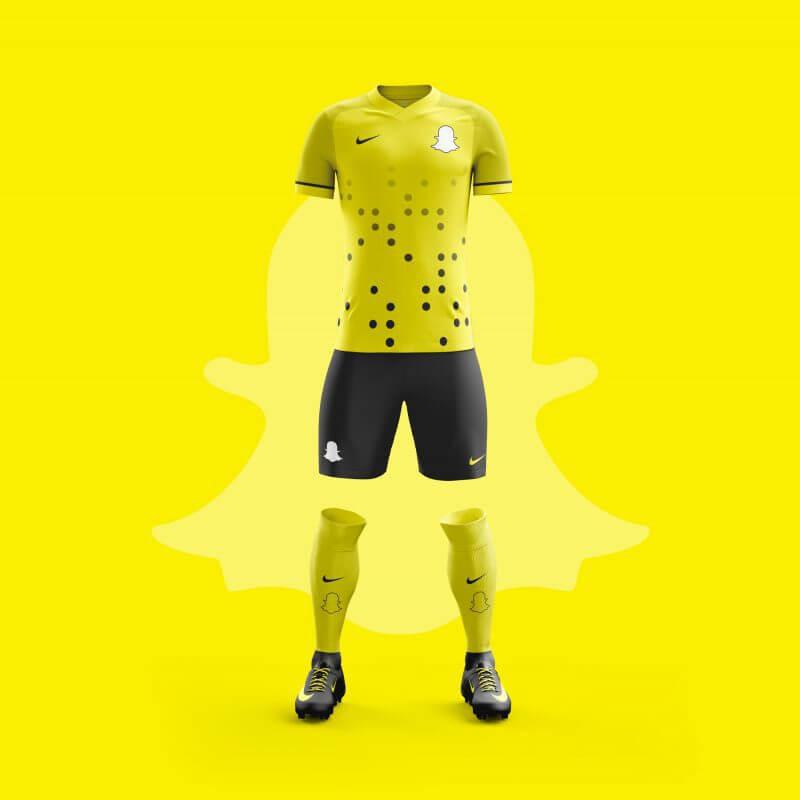 Snapchat futbol takımı forması