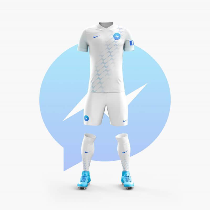 Facebook Messenger futbol takımı forma tasarımı