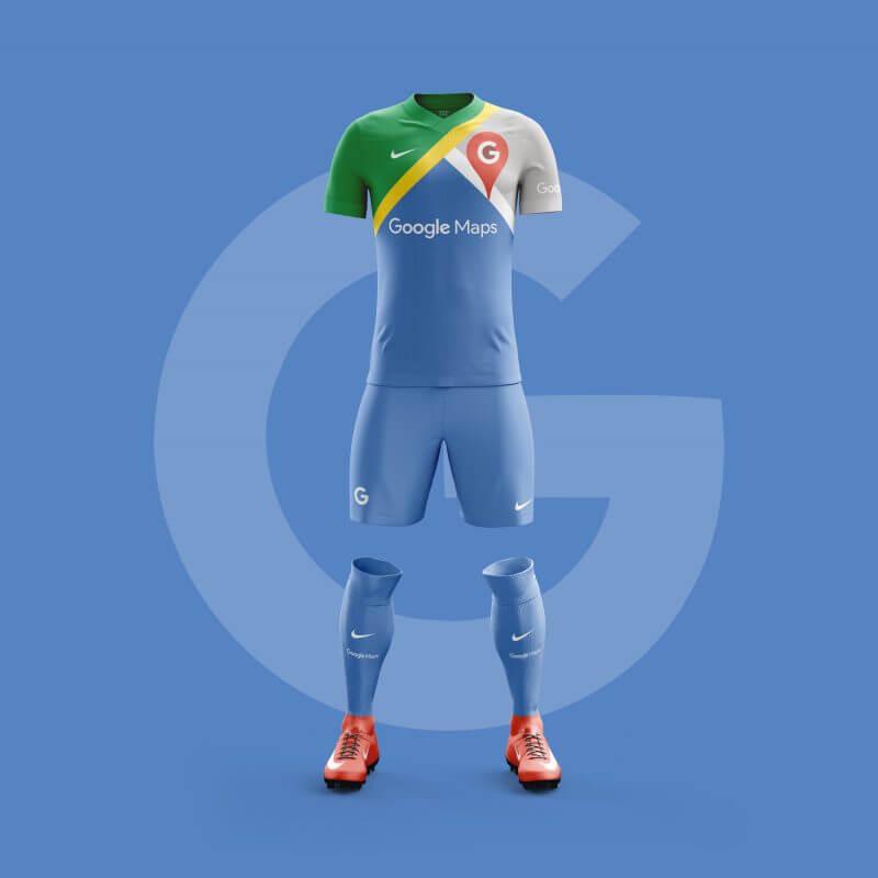 Google Map futbol takımı forması