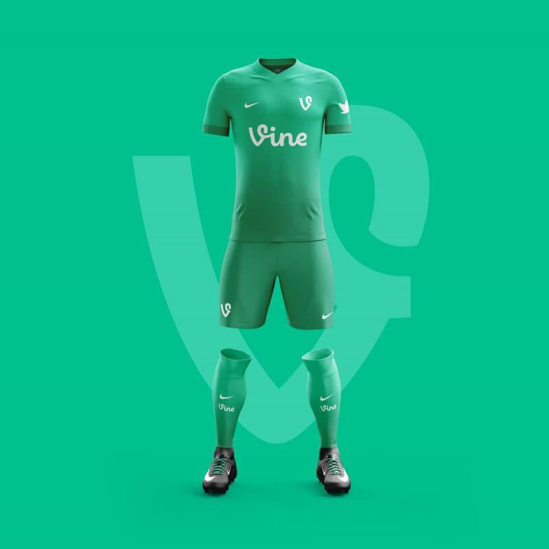 Vine futbol takımı forma tasarımı