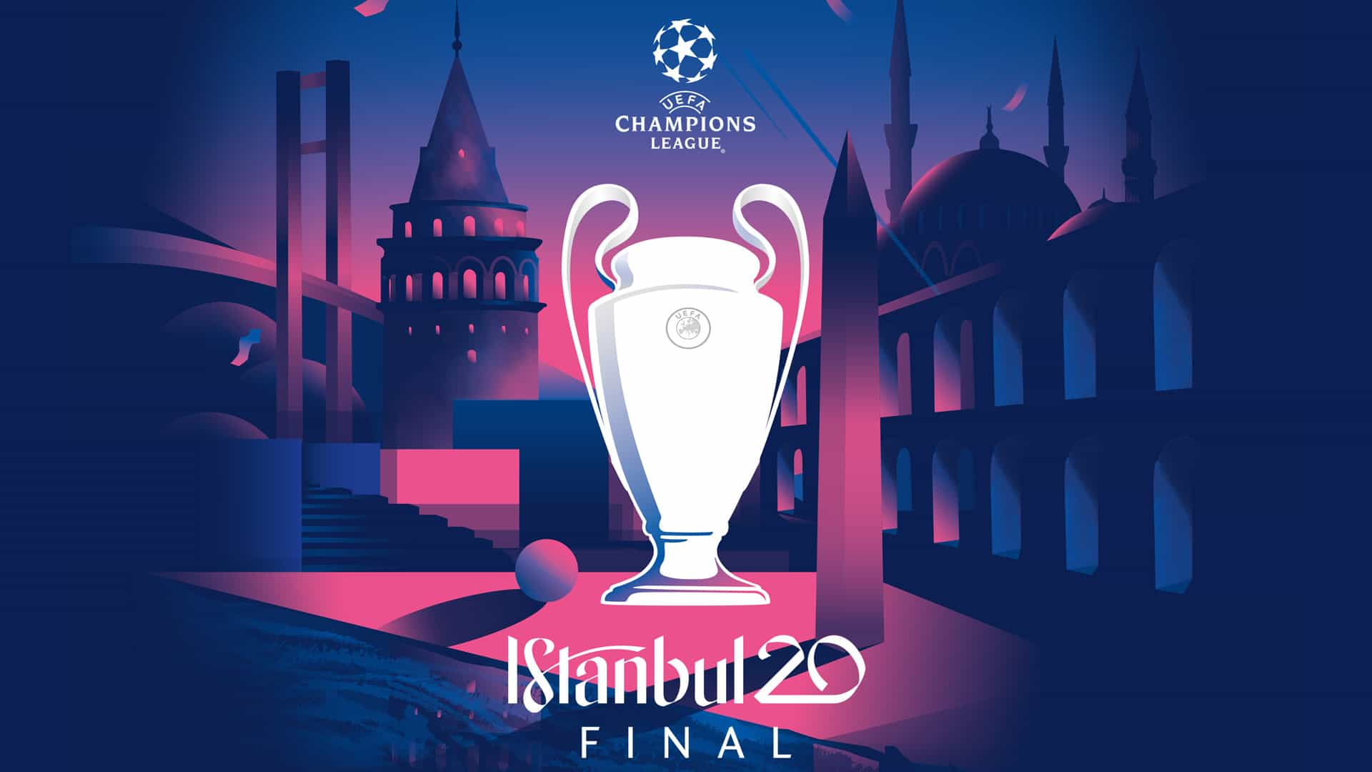 İstanbul 2020 UEFA Şampiyonlar Ligi Finali Logosu